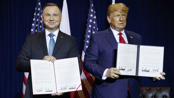 Trump, Polonya Devlet Başkanı Andrej Duda - Sputnik Türkiye
