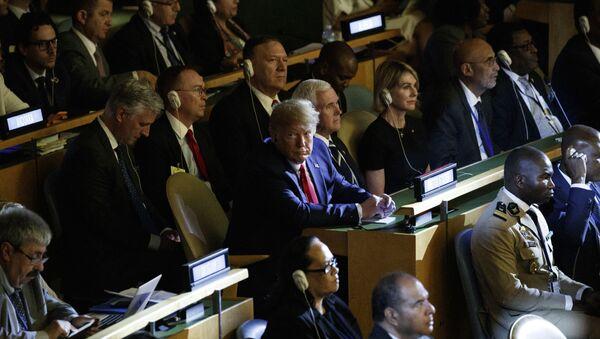 ABD Başkanı Donald Trump BM Genel Kurulu'nda - Sputnik Türkiye
