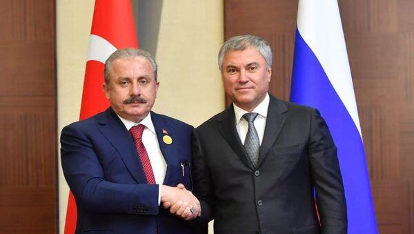Vyaçeslav Volodin - Mustafa Şentop - Sputnik Türkiye