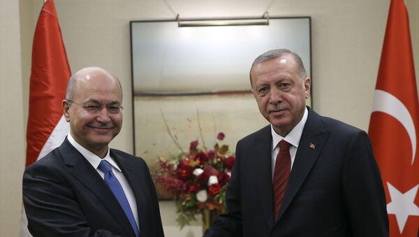 Türkiye Cumhurbaşkanı Recep Tayyip Erdoğan ve Irak Cumhurbaşkanı Berham Salih - Sputnik Türkiye