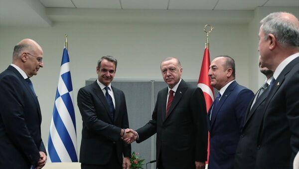 Erdoğan, Miçotakis - Sputnik Türkiye