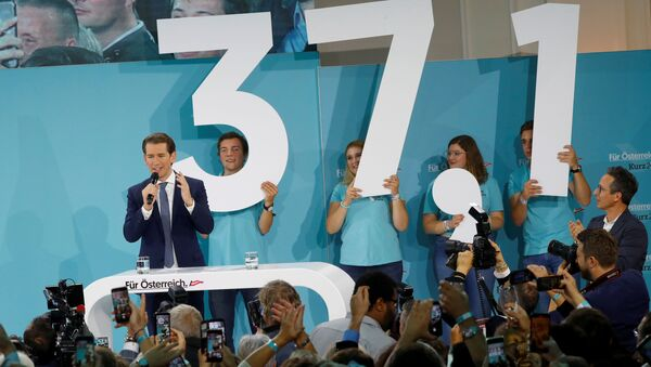 Avusturya'da gerçekleşen erken seçimde Başbakan Sebastian Kurz'un liderliğindeki Avusturya Halk Partisi yüzde 37,1'lik oy oranıyla birinci parti oldu.   - Sputnik Türkiye