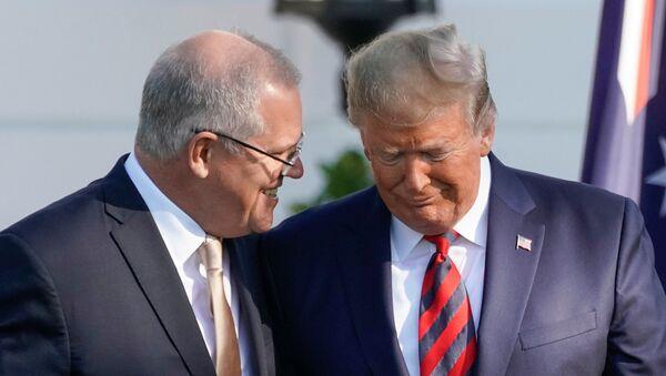Trump, Scott Morrison - Sputnik Türkiye