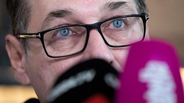 Eski Başbakan Yardımcısı ve aşırı sağcı eski Avusturya Özgürlük Partisi (FPÖ) Genel Başkanı Heinz Christian Strache - Sputnik Türkiye