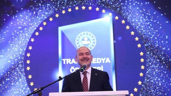 İçişleri Bakanı Süleyman Soylu, Trafik Güvenliği Televizyon Ödülleri Yarışma Programına katıldı. - Sputnik Türkiye