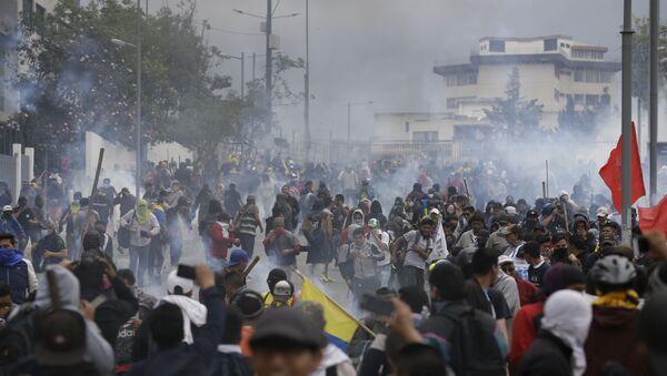 Ekvador, protesto - Sputnik Türkiye