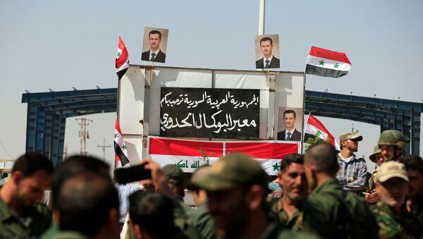 Irak'ın Kaim ile Suriye'nin Bukemal kentleri arasındaki sınır kapısı - Sputnik Türkiye