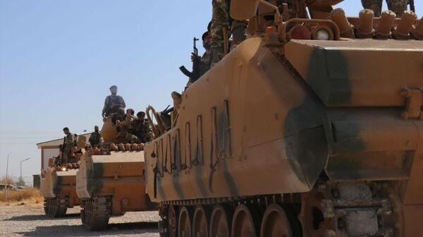 Barış Pınarı Harekatı'na, muhalif savaşçılardan oluşan Suriye Milli Ordusu da (SMO) destek verdi. - Sputnik Türkiye