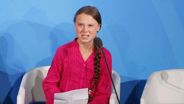 İklim aktivisti Greta Thunberg BM İklim Zirvesi'nde konuşma yaptı. - Sputnik Türkiye