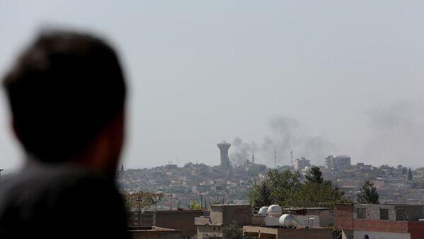 Kuzey Suriye'ye yönelik başlatılan 'Barış Pınarı Harekatı'nın ardından sınıra yakın bölge illerinde hareketlilik yaşanıyor. - Sputnik Türkiye