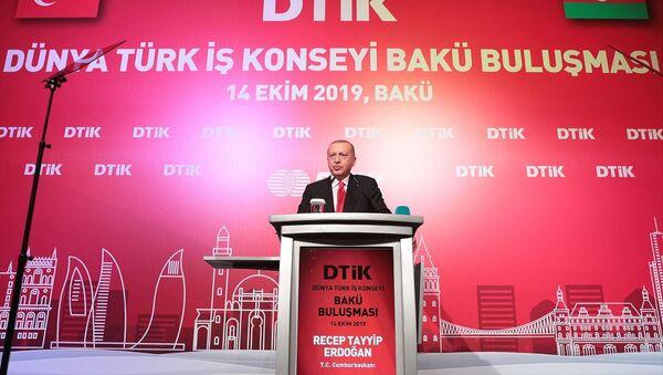 Recep Tayyip Erdoğan, DTİK toplantısı Bakü - Sputnik Türkiye