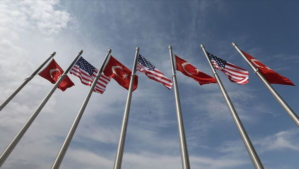 Türkiye ABD bayrakları - Sputnik Türkiye