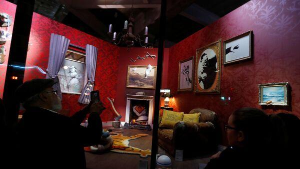 Banksy'nin İngiltere'nin başkenti Londra'nın Croydon ilçesinde açtığı Gross Domestic Product (Gayrisafi Yurtiçi Hasıla) adlı dükkan - Sputnik Türkiye