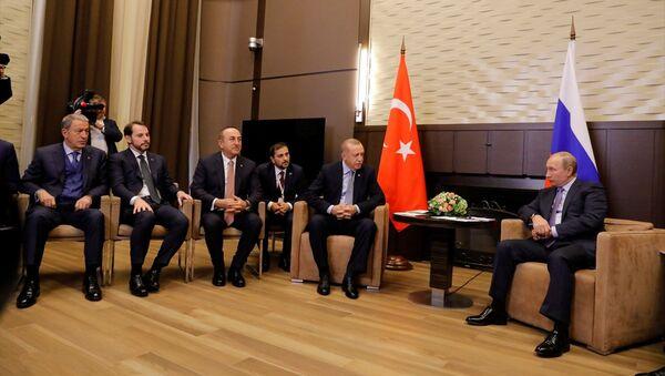 Recep Tayyip Erdoğan ve Rusya Devlet Başkanı Vladimir Putin - Sputnik Türkiye