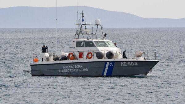Yunanistan Sahil Güvenlik-göçmenler - Sputnik Türkiye