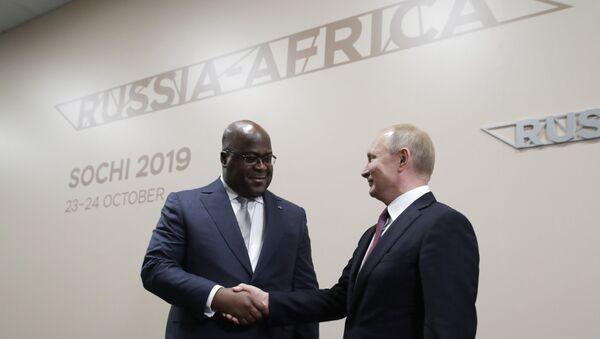 Kongo Demokratik Cumhuriyeti Cumhurbaşkanı Felix Tshisekedi ve Rusya Devlet Başkanı Vladimir Putin - Sputnik Türkiye