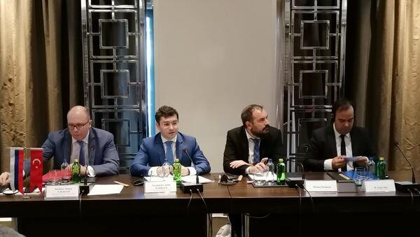 """Rusya Merkez Federal Bölgesi Yatırım Konseyi, """"Russian Road Show"""" isimli etkinlik çerçevesinde İstanbul'da toplantı gerçekleştirdi. - Sputnik Türkiye"""