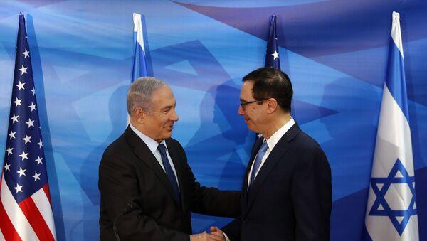 Netanyahu, Mnuchin - Sputnik Türkiye