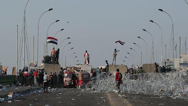 Irak'taki gösteriler - Sputnik Türkiye