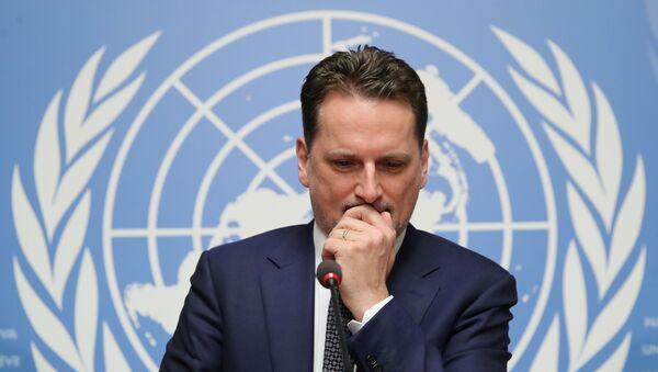 Birleşmiş Milletler (BM) Filistinli Mültecilere Yardım KuruluşuGenel Komiseri Pierre Krahenbühl - Sputnik Türkiye