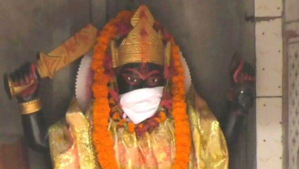 Hindistan'da tanrı heykellerine maske takıldı - Sputnik Türkiye