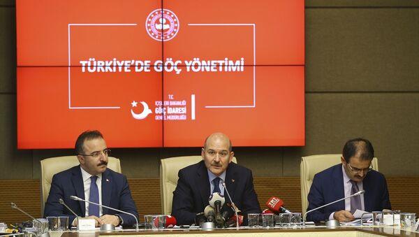 İçişleri Bakanı Süleyman Soylu, Türkiye'de göç yönetimine ilişkin TBMM İçişleri Komisyonuna bilgi verdi. - Sputnik Türkiye