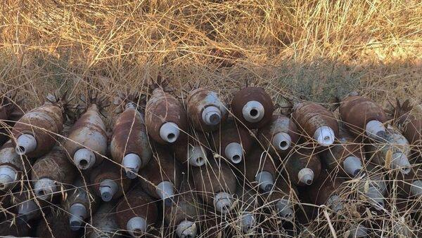 Tel Abyad'da ele geçirilen mühimmatlar - Sputnik Türkiye