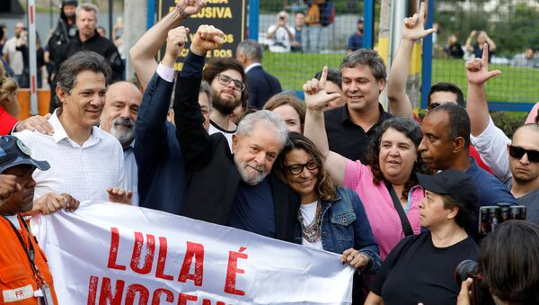 EskiBrezilya Devlet Başkanı Luiz Inacio Lula Da Silva, tahliye edilmesinin ardından konuştu - Sputnik Türkiye