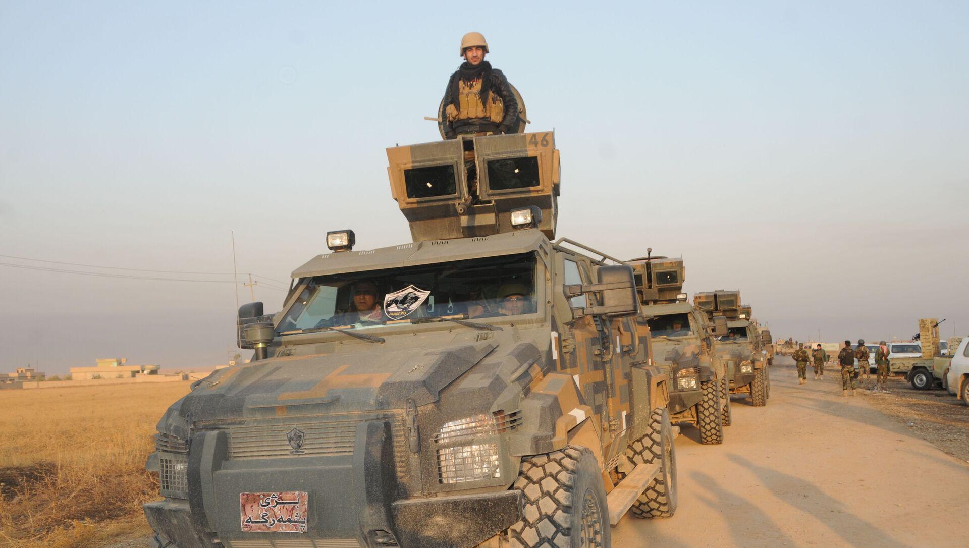 Peşmergegüçleri Irak'ın kuzeyindeki Süleymaniye'nin Germiyan bölgesi kırsalında IŞİD'e karşı operasyondüzenledi. - Sputnik Türkiye, 1920, 28.07.2021