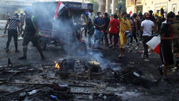 Irak protestolar - Sputnik Türkiye