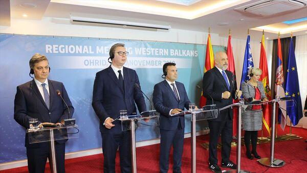 Batı Balkan liderleri Kuzey Makedonya'da toplandı - Sputnik Türkiye