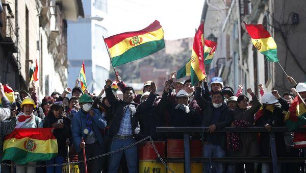 Bolivya hükümet karşıtı eylemler - Sputnik Türkiye