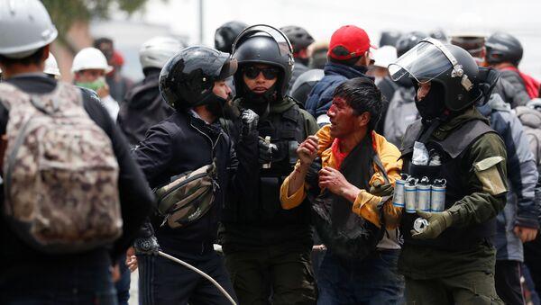 Bolivya'da Morales destekçilerine sert müdahale - Sputnik Türkiye