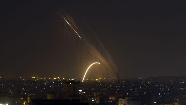 Gazze, İsrail, füze - Sputnik Türkiye