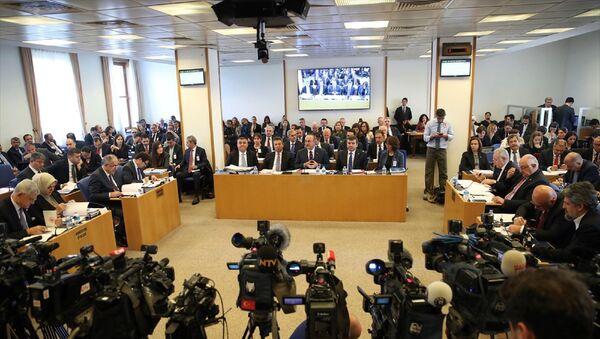 Dışişleri Bakanı Mevlüt Çavuşoğlu, TBMM Plan ve Bütçe Komisyonunda, Dışişleri Bakanlığı ve ilgili kurumlarının 2020 bütçesinin sunumunu yaptı. - Sputnik Türkiye
