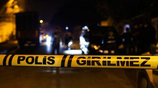 Polis, girilmez, olay yeri inceleme - Sputnik Türkiye