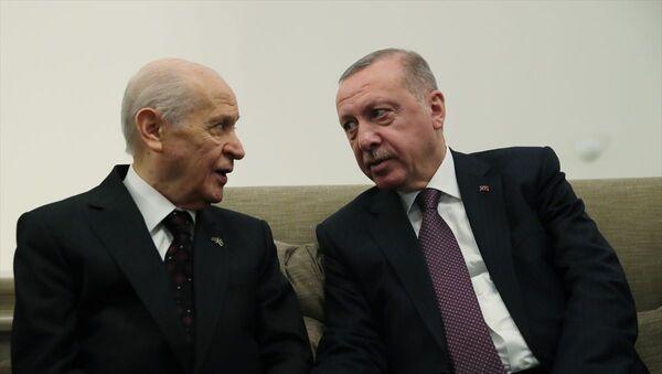 Recep Tayyip Erdoğan- Devlet Bahçeli - Sputnik Türkiye