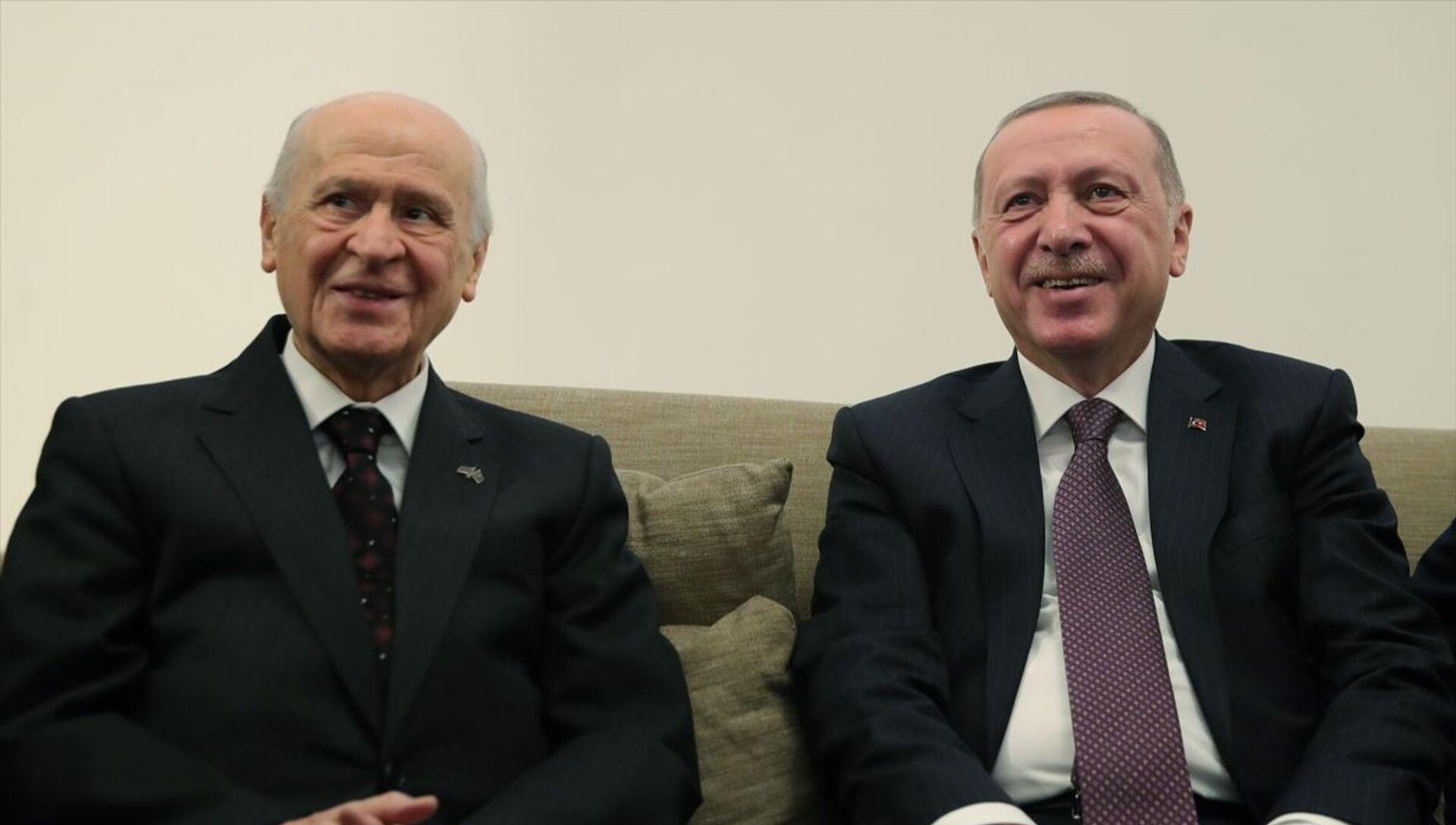 Recep Tayyip Erdoğan- Devlet Bahçeli - Sputnik Türkiye, 1920, 18.06.2021