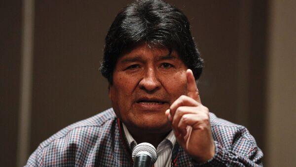 İstifaya zorlanan eski Bolivya Devlet Başkanı Evo Morales, iltica ettiği Meksika'da basın toplantısı düzenledi. - Sputnik Türkiye