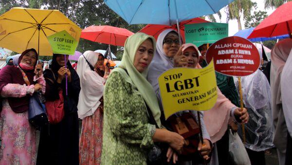 Endonezya'da LGBTİ karşıtı yürüyüş - Sputnik Türkiye