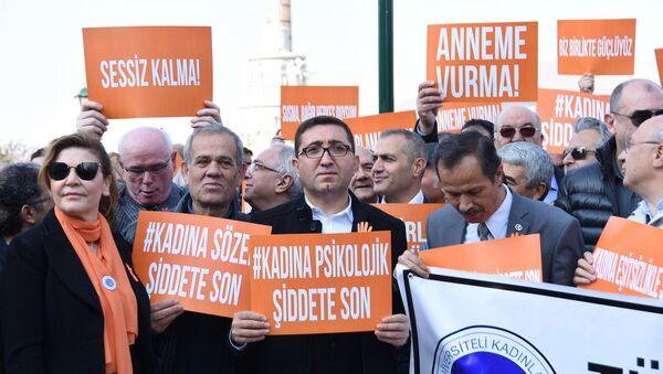 Eskişehir, erkekler kadına şiddete dikkati çekmek için yürüdü - Sputnik Türkiye