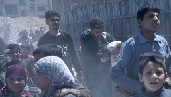 Suriye'de kimyasal saldırı gereçekleştirildiği iddia edilen Duma - Sputnik Türkiye