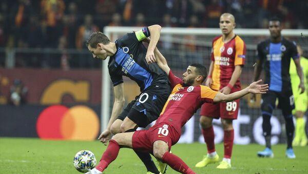 Galatasaray, UEFA Şampiyonlar Ligi A Grubu 5. hafta maçında Belçika'nın Club Brugge takımı ile 1-1 berabere kaldı. - Sputnik Türkiye