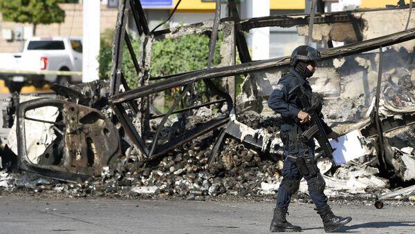 Meksika'da uyuşturucu kartelleri güvenlik güçleriyle çatıştı. - Sputnik Türkiye