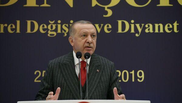 Recep Tayyip Erdoğan, 6. Din Şurası - Sputnik Türkiye