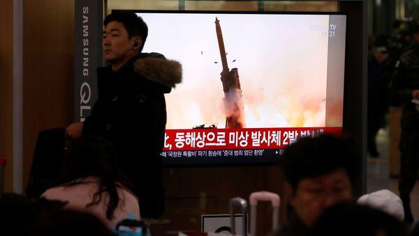 Kuzey Kore-füze denemesi - Sputnik Türkiye