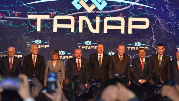 TANAP Avrupa'ya bağlandı - Sputnik Türkiye