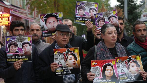 Uluslararası Af Örgütü Haklar İçin Yaz kampanyası kapsamında Diyarbakır'da açıklama yaptı.  - Sputnik Türkiye