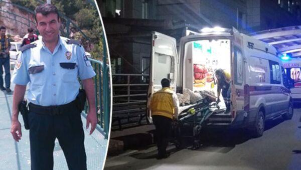 Bursa'da, komşular arasında yaşanan kavga ihbarı üzerine olay yerine giden polis memurlarından Alaattin Özdemir, yaşanan arbede sırasında kendi tabancası ile başından vuruldu - Sputnik Türkiye