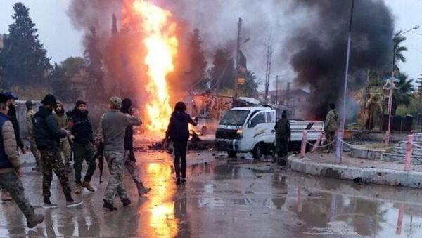 Rasulayn'daki bombalı araç saldırısı - Sputnik Türkiye